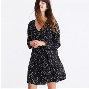 Madewell Star Silk Button Back Dress XS
